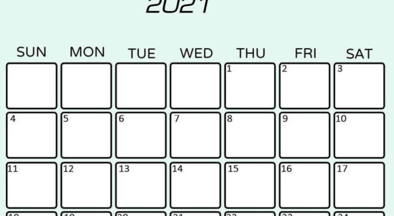 Free Printable July 2021 Calendar - Calendarkart-2021 Calendar Squares To Rpint