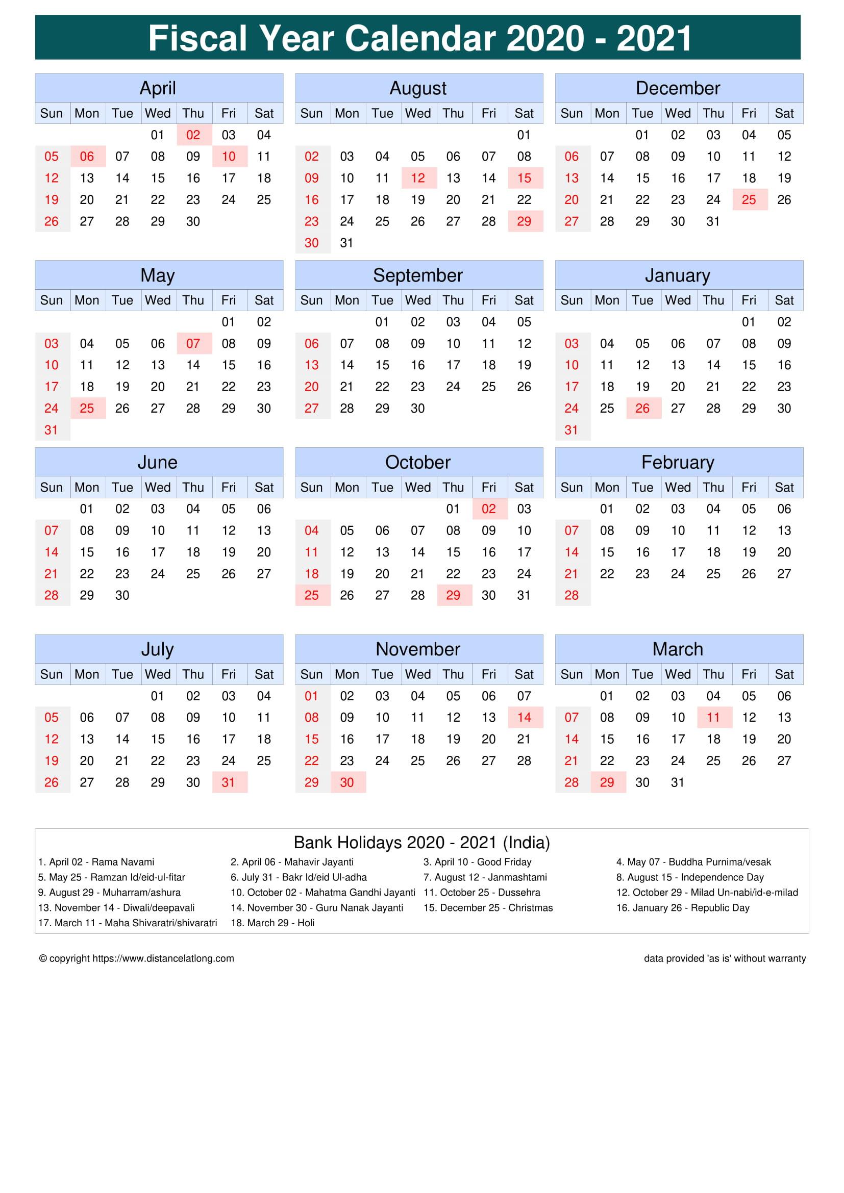 Holiday Calendar 2021 India | Printable Calendars 2021-2021 Calendard For Vacation Schedule