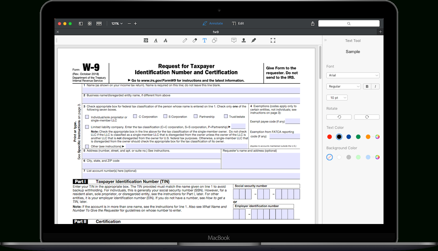 How To Fill Out Irs Form W-9 2020-2021 | Pdf Expert-2021 W9 Fillable