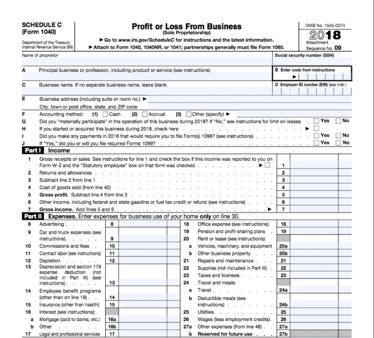Irs Schedule C Instructions For 1099 Contractors Shared-Irs Forms 2021 Printable Sch C
