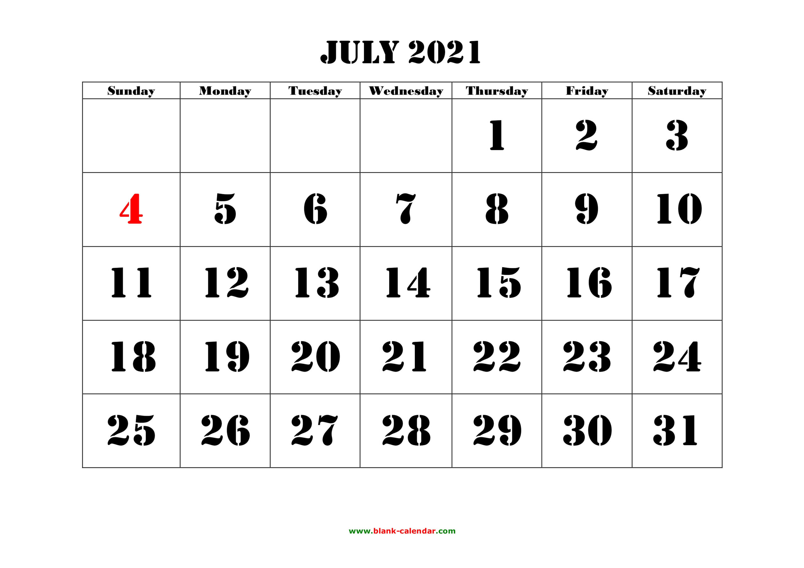 July 2021 Printable Calendar | Free Download Monthly-2021 Calendar Squares To Rpint