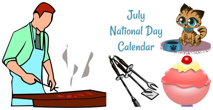 July National Day Calendar - Free Printable - 2021-National Food Days 2021 Printable