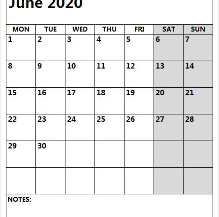 June 2020 Calendar Monday To Friday Templates | Pinterest-Free Sample Printable Blank Editable Calendar For Monday - Friday June 2021