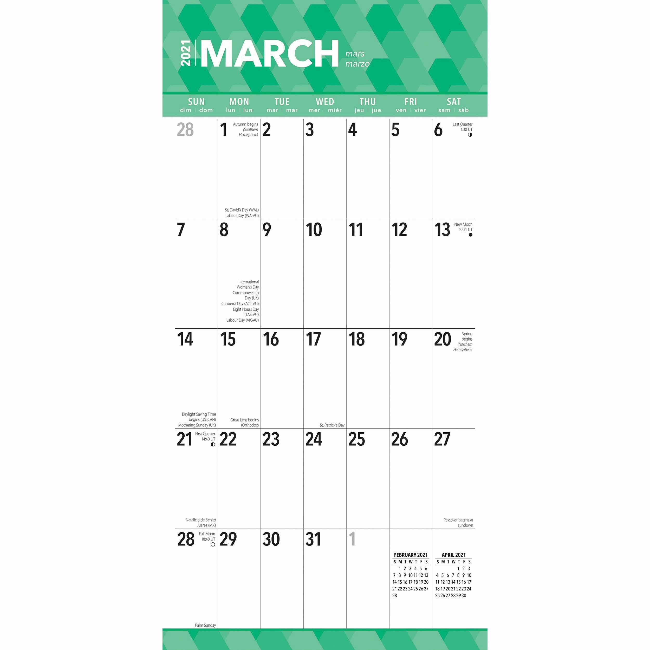 Large Print Calendar 2021 At Calendar Club-2021 Calendar Squares To Rpint
