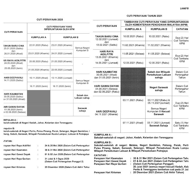Malaysia School Holiday Calendar 2021 - Changes And-School Holiday In Sarawak 2021