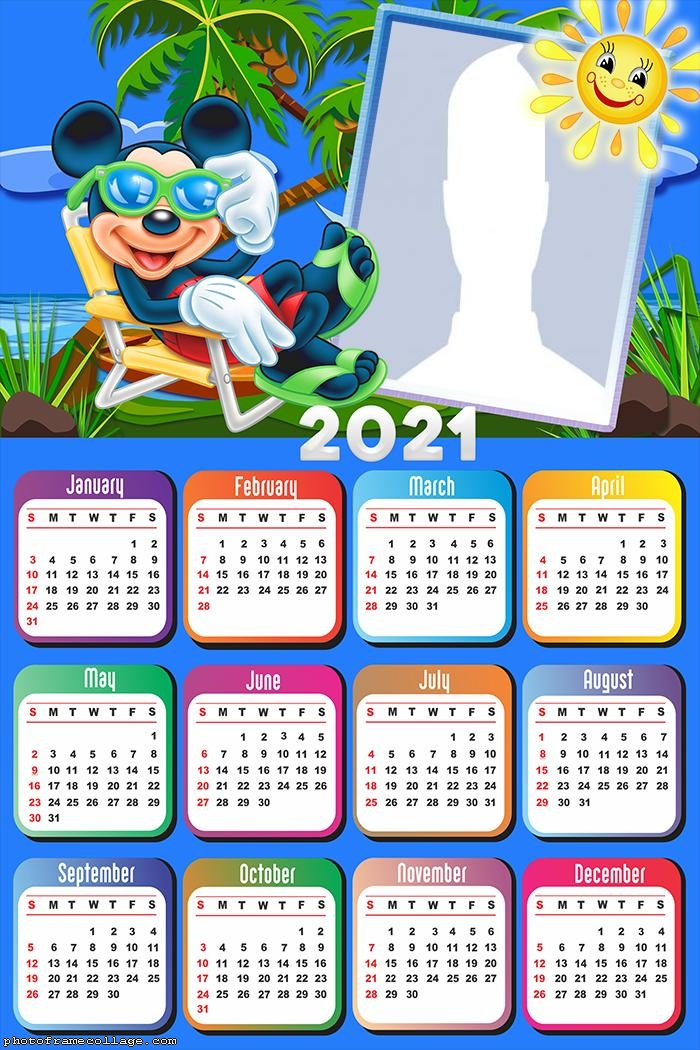 Mickey Mouse Clubhouse Calendar 2021   Framed Photo-Free Mickey Muse Calendars 2021