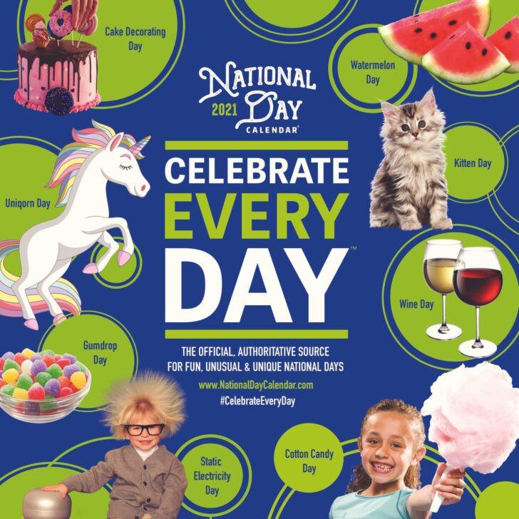 National Food Day Calendar 2021 Printable   Free Letter-National Food Days 2021 Calendar