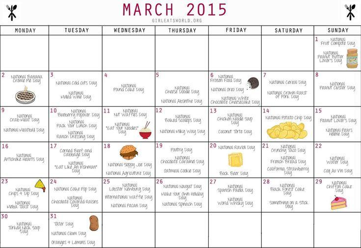 National Food Day Calendar Printable Printable Calendar-National Food Days 2021 Calendar