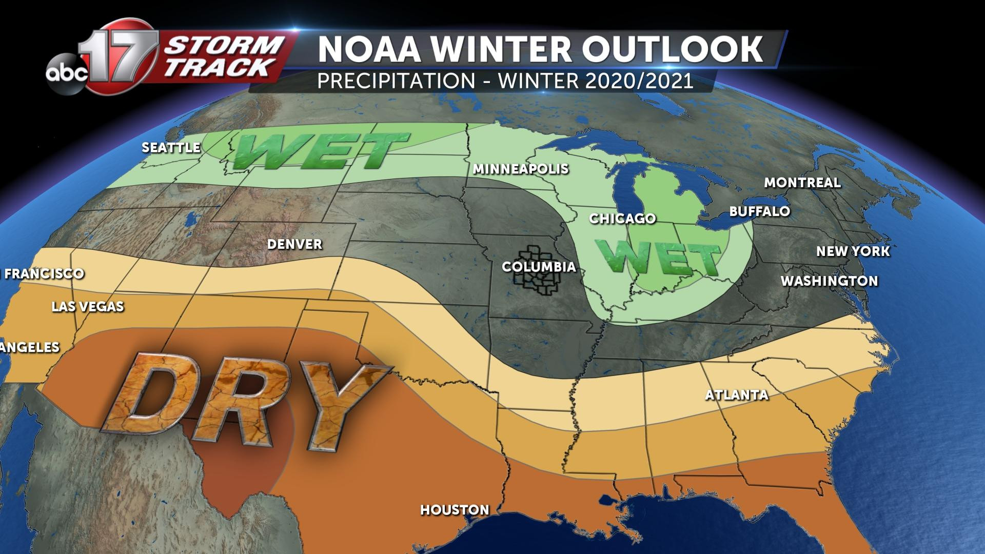 Noaa Releases 2020-2021 Winter Outlook - Abc17News-Northwest Louisiana 2021 Rut Prediction