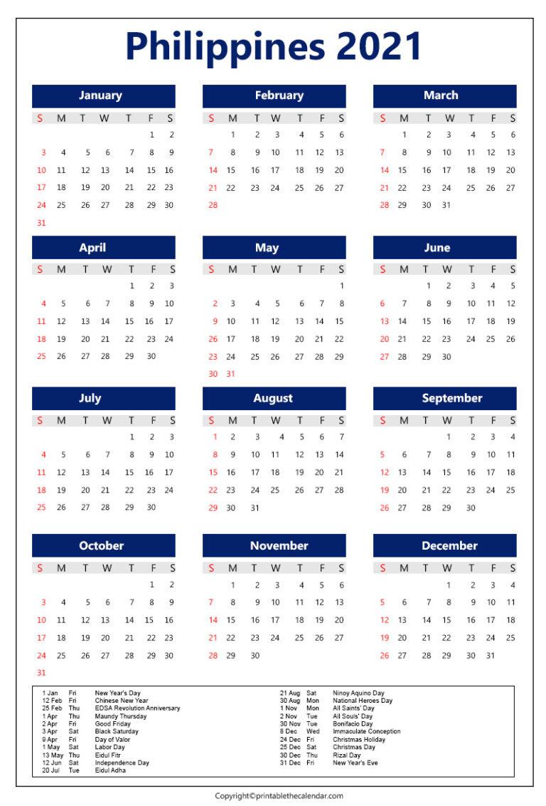 Philippines Calendar 2021 With Holidays [Printable Template]-Philippine 2021 Calendar.pdf