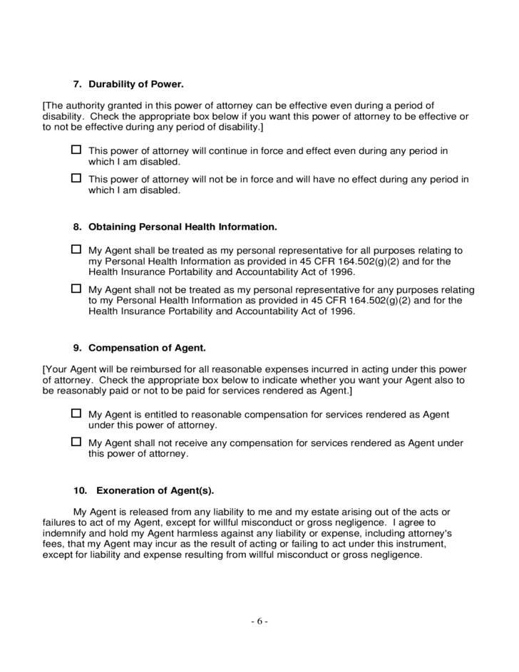 Power Of Attorney Form - Ohio Free Download-2021 W 9 Form For Ohio