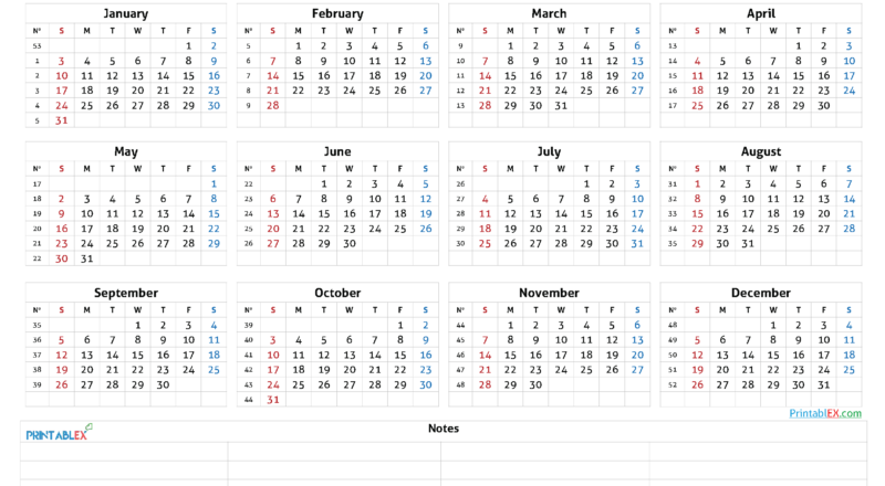 Printable 2021 Calendar By Year - 21Ytw46-Free Printable Downloadable Yearly Calendar 2021