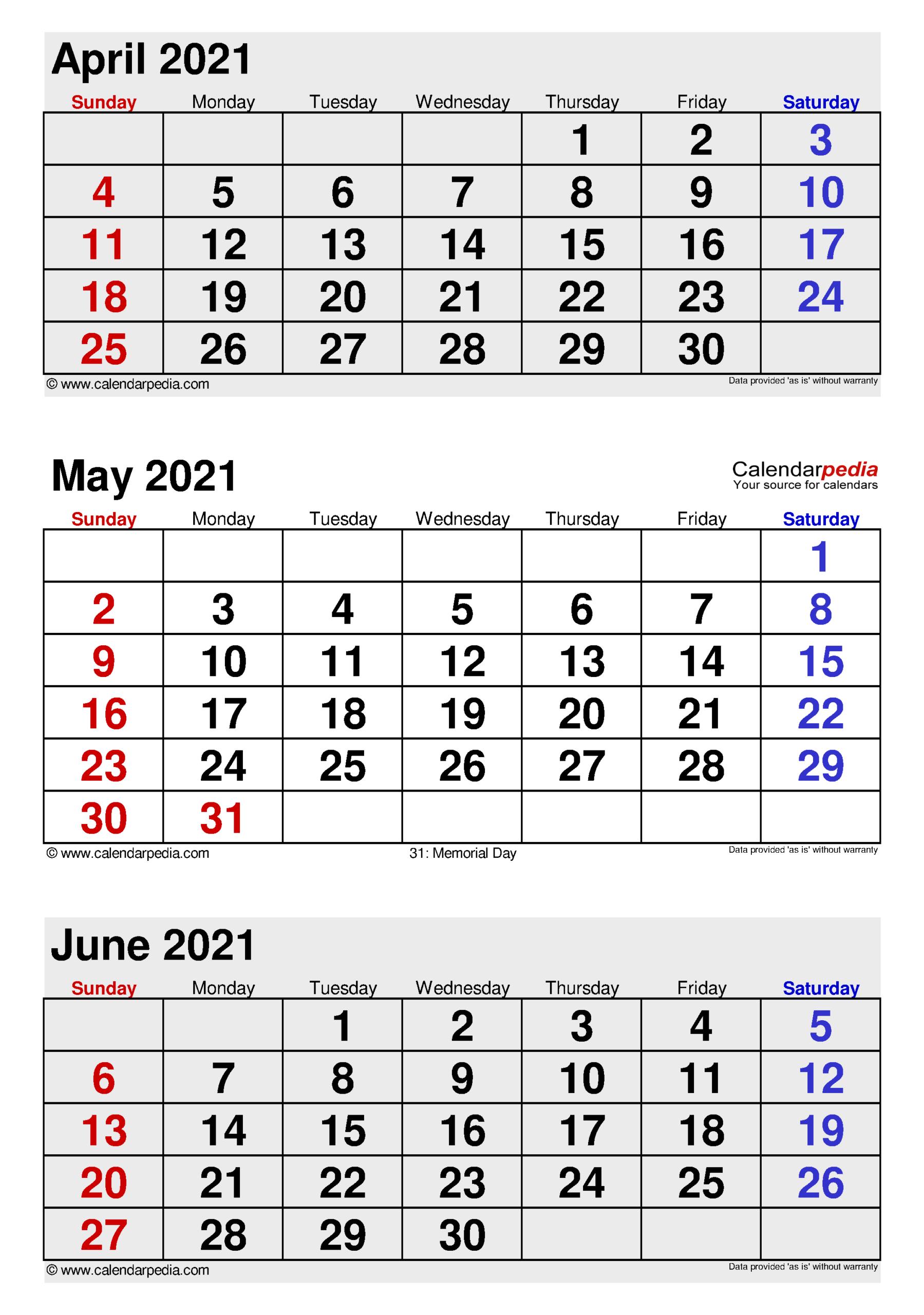 Printable 3 Month Calendar 2021   Free 2021 Printable-Printable Month To Month Calendar 2021
