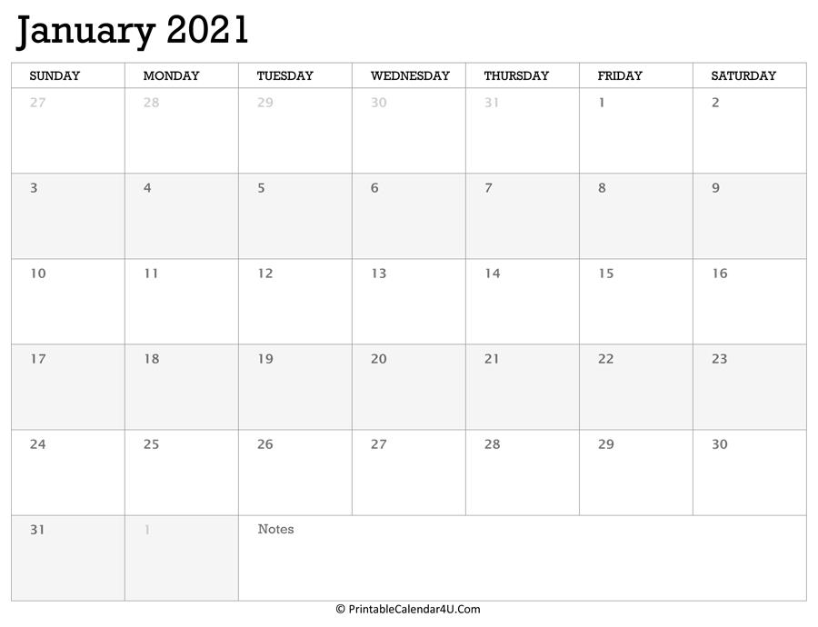Printable Calendar January 2021 With Holidays-Calendar 2021 Sat Thru Sunday