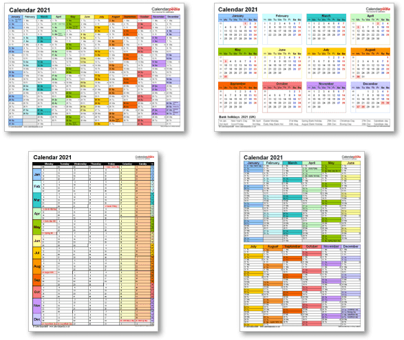 Printable Calenders For 2021 | Free Letter Templates-2021 Office Vacation Calendar Examples
