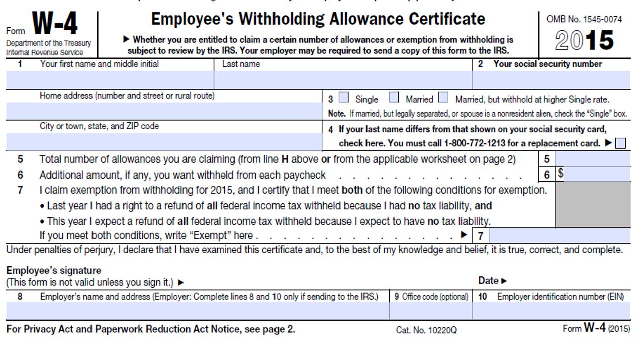 Printable W4 Tax Form 2015   W4 Form 2021 Printable-Printable 2021 2021 W 4 Form