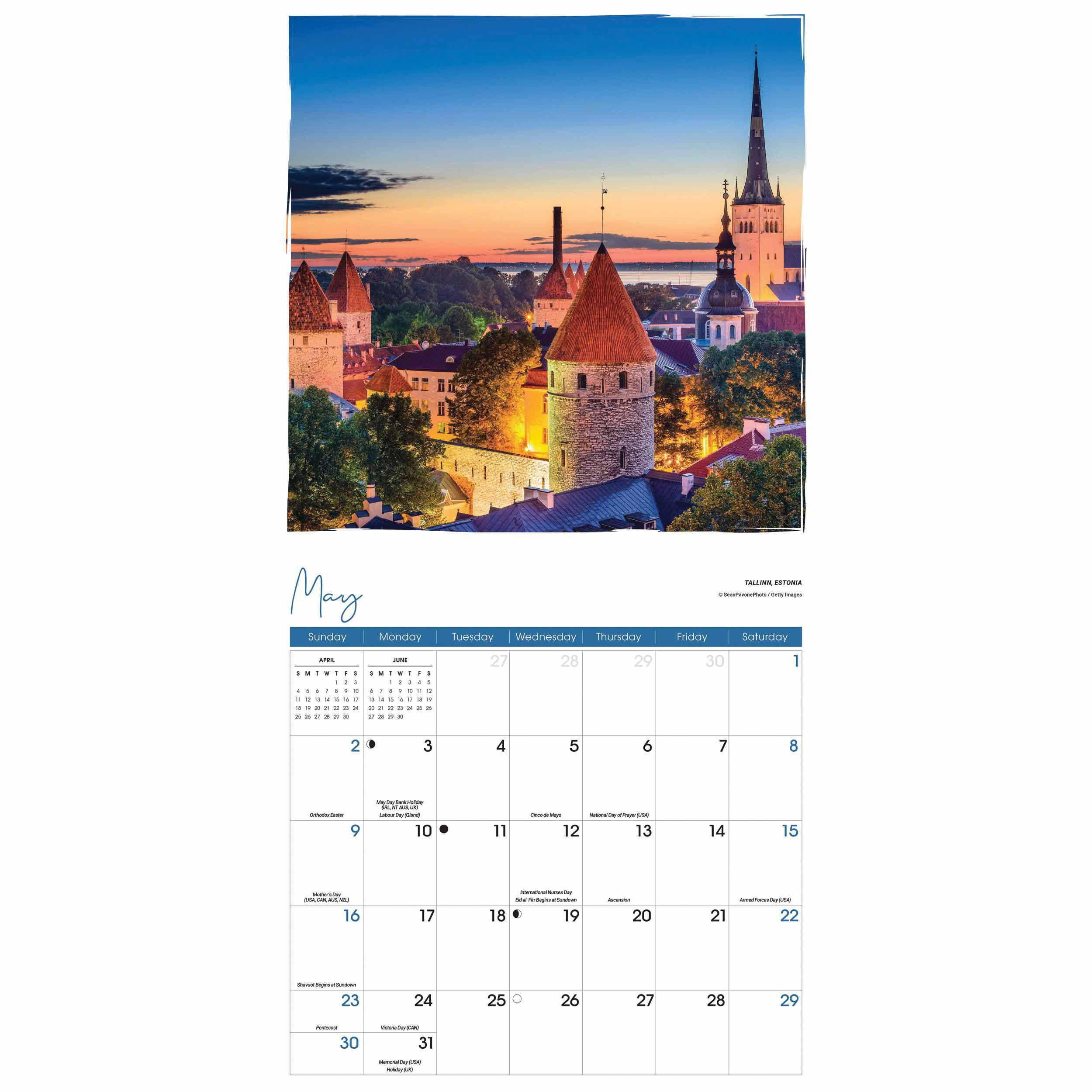 Romantic Europe Calendar 2021 At Calendar Club-2021 Calendar For Vacation