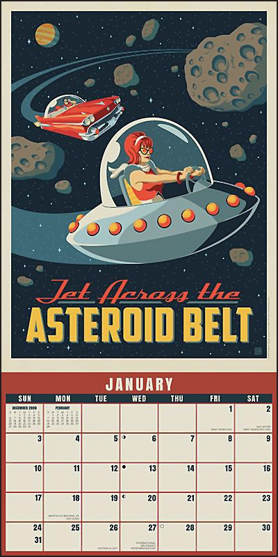 Space Travel 2021 Calendar - Buds Art Books-2021 Calendar For Vacation