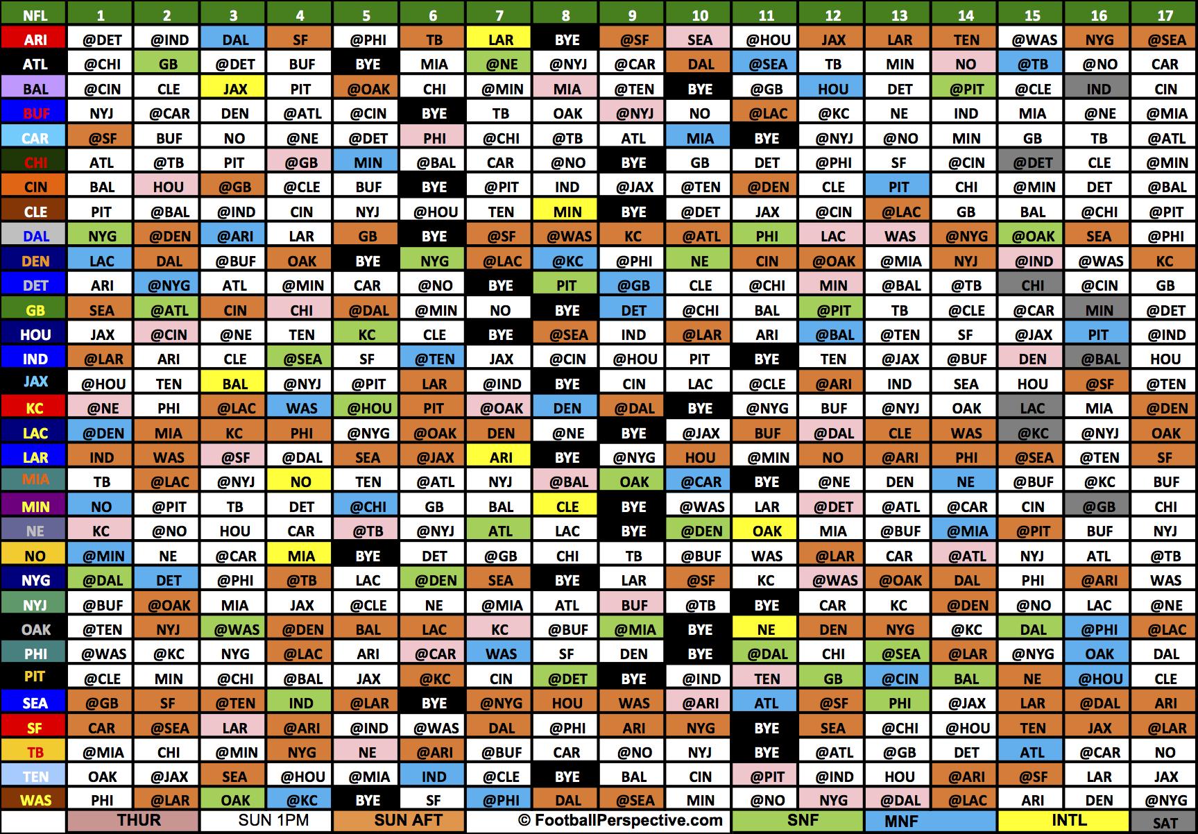 The 2017 Nfl Schedule-Printable 2021 Full Nfl Schedule