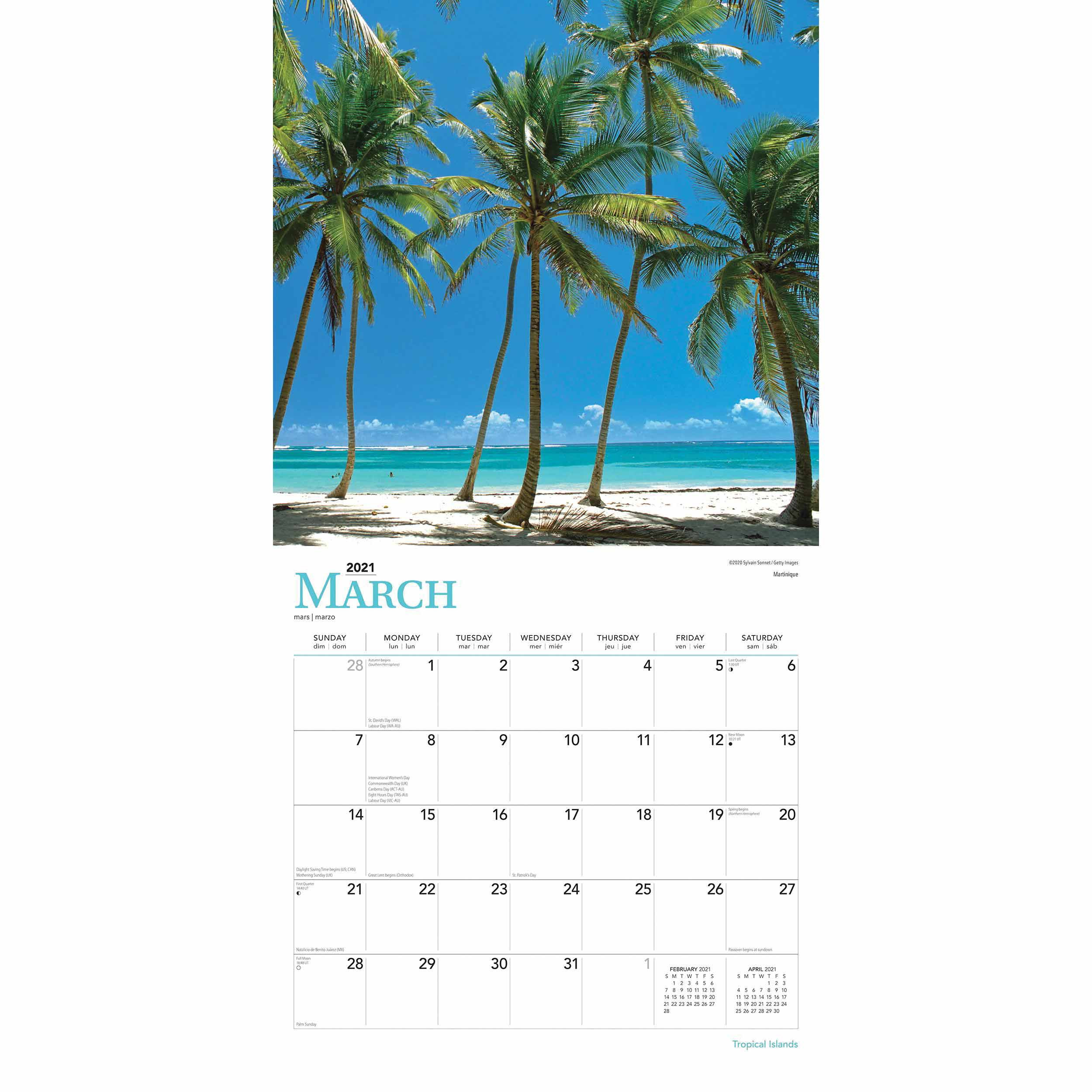 Tropical Islands Calendar 2021 At Calendar Club-2021 Calendar For Vacation