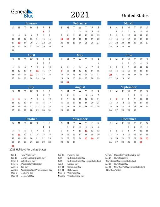 Us Holidays Calendar 2021 - Calendar 2021-National Wellness Calendar 2021