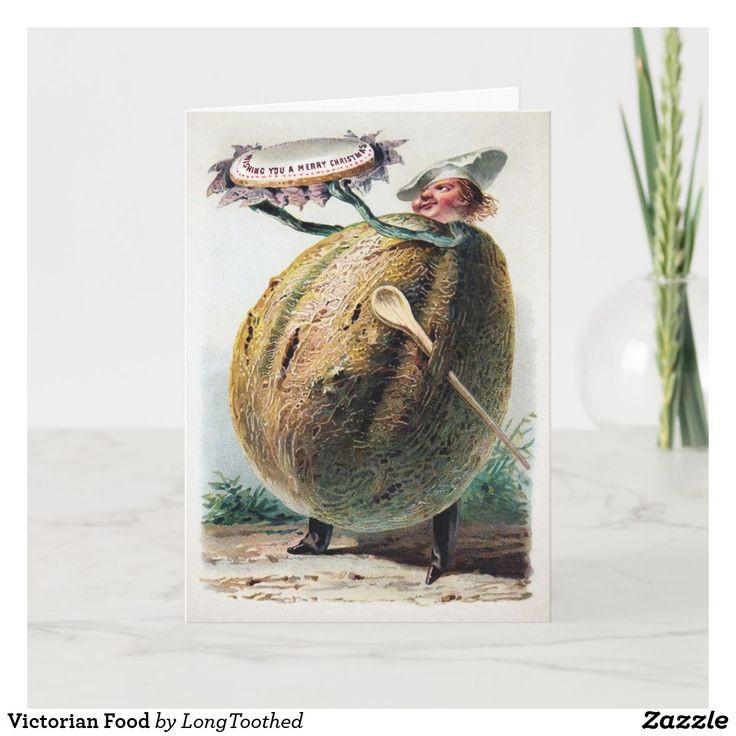 Victorian Food Holiday Card   Zazzle In 2021   Holiday-Food Holidays 2021
