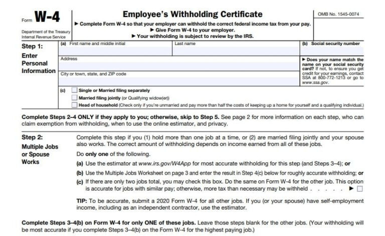 W4 Forms 2021 Printable Employee Withholding   Printable-Printable 2021 2021 W 4 Form